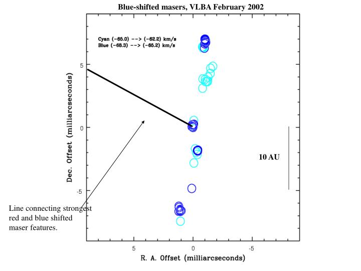 Blue-shifted masers, VLBA February 2002