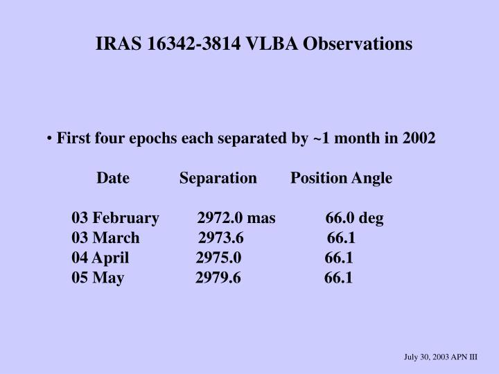 IRAS 16342-3814 VLBA Observations