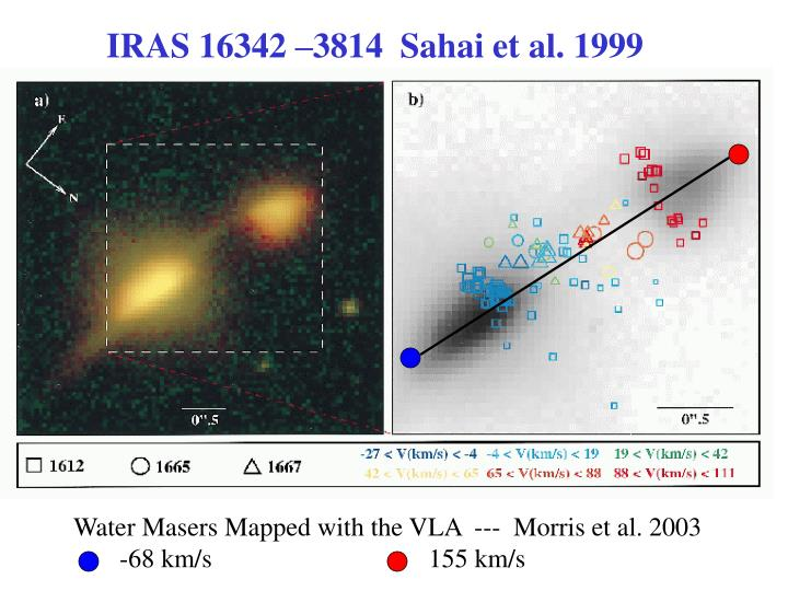 Water Masers Mapped with the VLA  ---  Morris et al. 2003