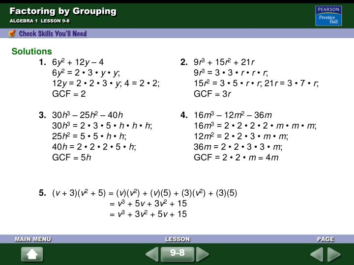 Factoring by grouping1