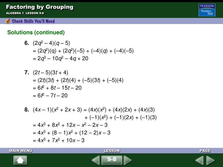 Factoring by grouping2