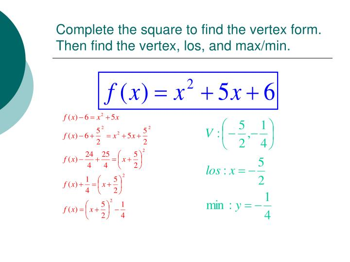 how to find your vertex