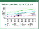 simulating pensioner income to 2017 18