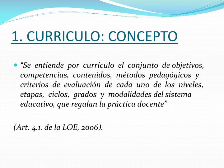 1. CURRICULO: