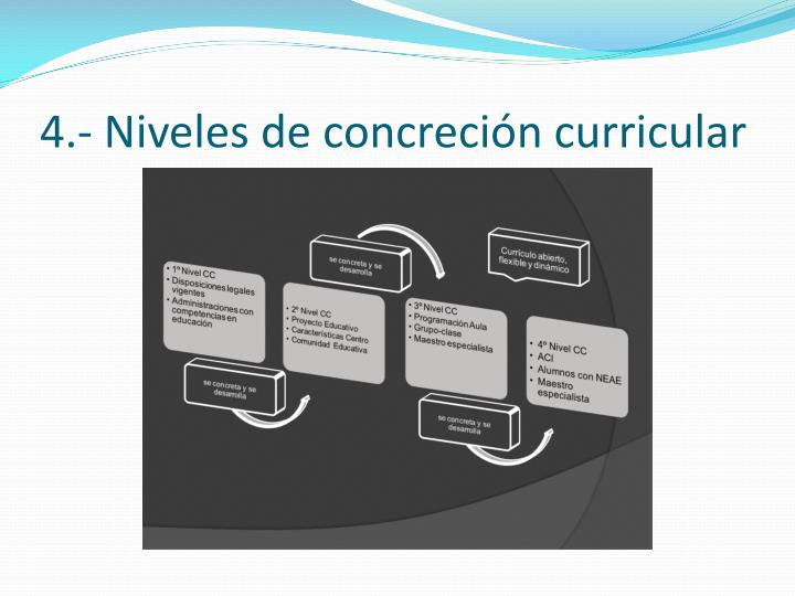 4.- Niveles de concreción curricular