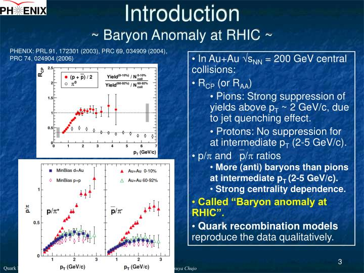 Introduction baryon anomaly at rhic