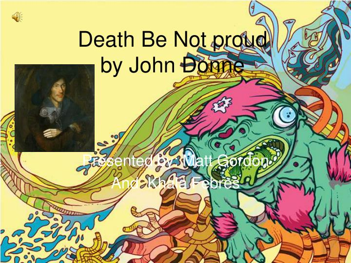 death not proud john donne essay coursework help death not proud john donne essay