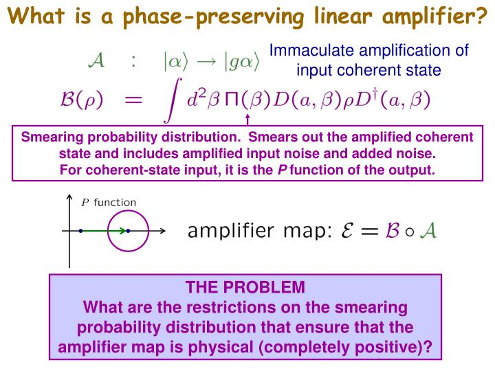 What is a phase-preserving linear amplifier?