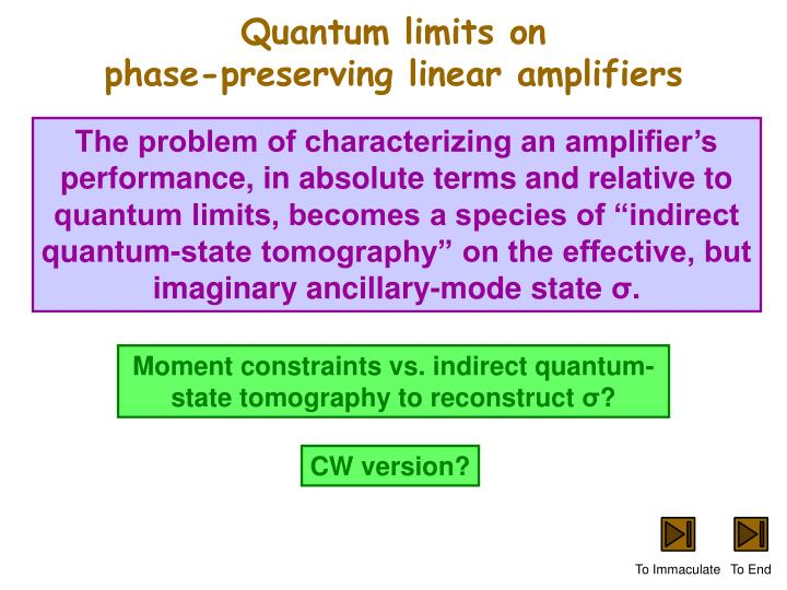 Quantum limits on