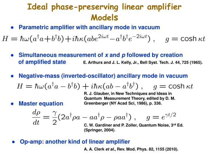 Ideal phase-preserving linear amplifier