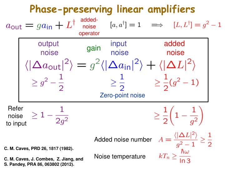 Phase-preserving linear amplifiers