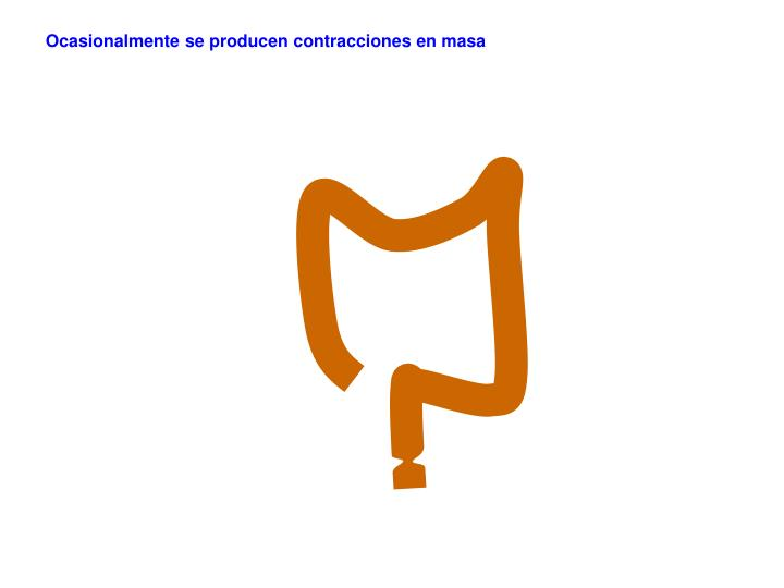 Ocasionalmente se producen contracciones en masa