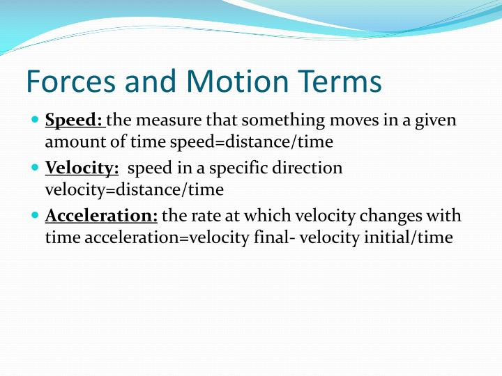 Forces and Motion Terms
