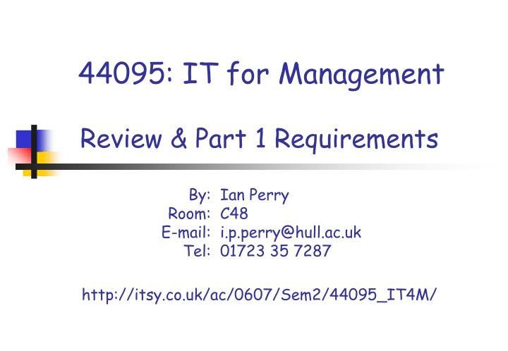 44095 it for management