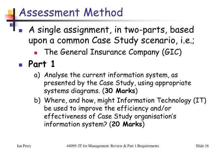 Assessment Method