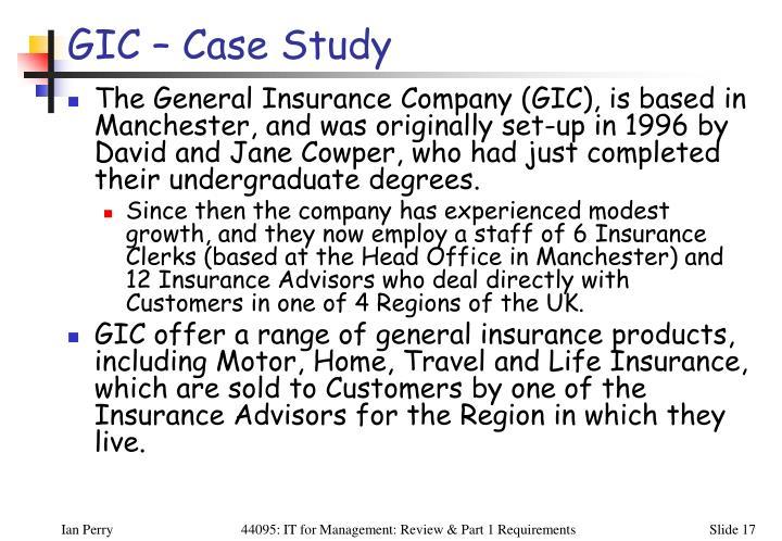 GIC – Case Study