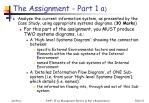 the assignment part 1 a