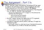 the assignment part 1 b