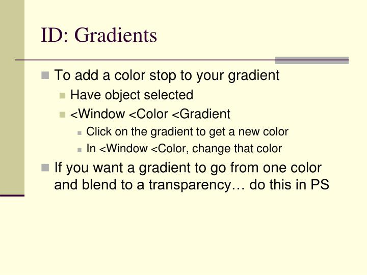 ID: Gradients