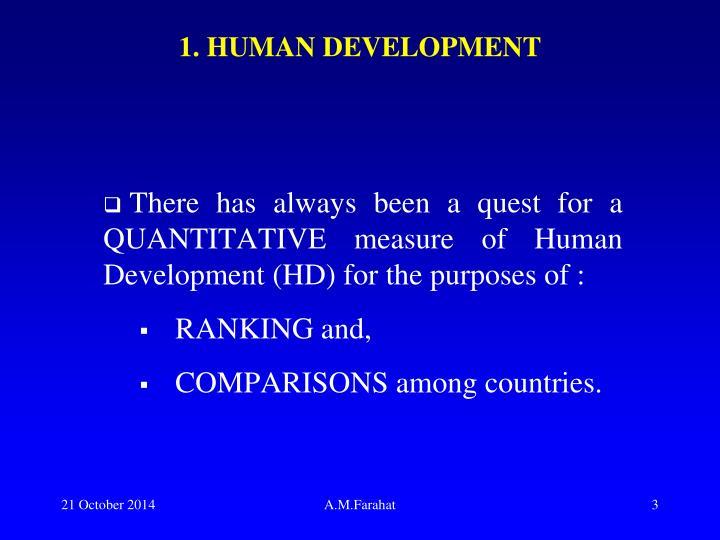 1. HUMAN DEVELOPMENT