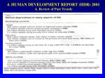 4 human development report hdr 2001 a review of past trends