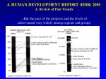 4 human development report hdr 2001 a review of past trends4