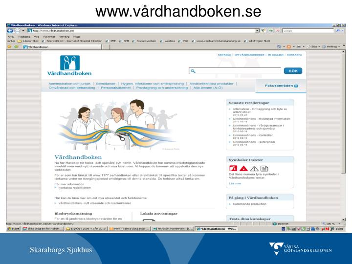www.vårdhandboken.se