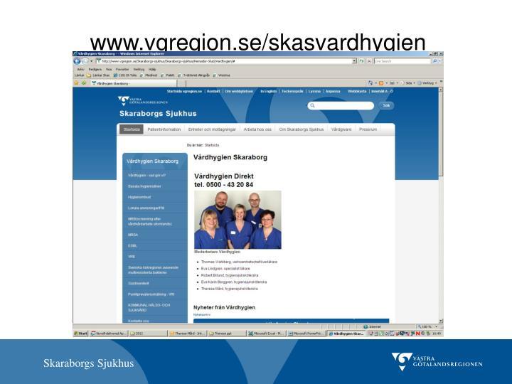 www.vgregion.se/skasvardhygien