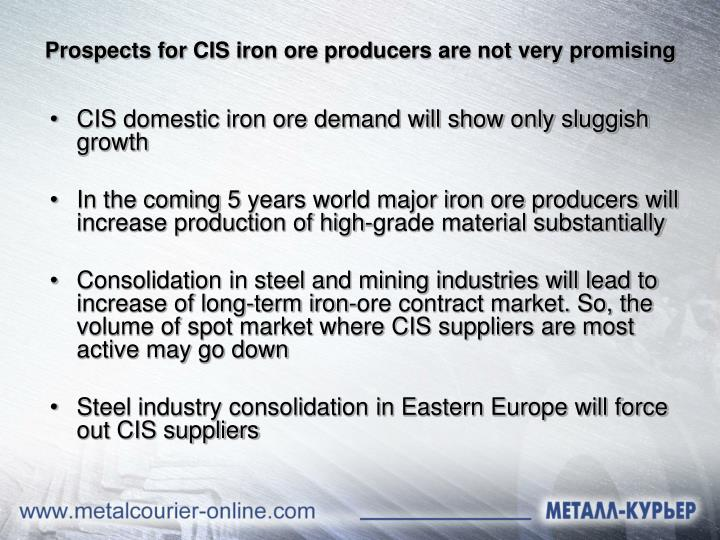Prospects for CIS iron ore producers are not very promising