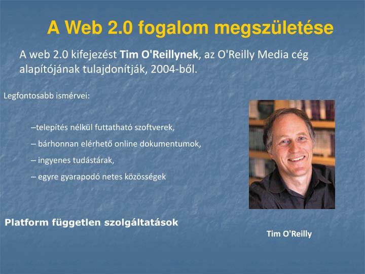A Web 2.0 fogalom megszületése