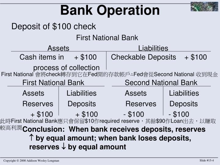 Bank Operation