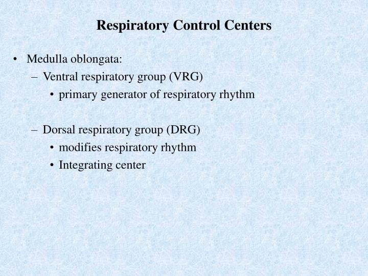 Respiratory Control Centers
