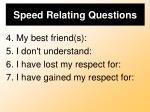 speed relating questions1