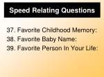 speed relating questions11