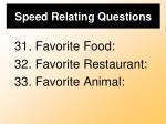 speed relating questions9
