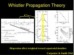 whistler propagation theory