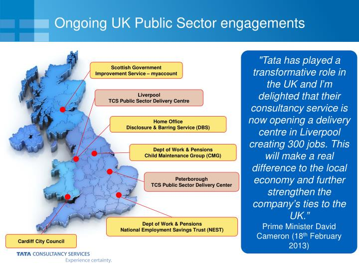 Ongoing UK Public Sector engagements