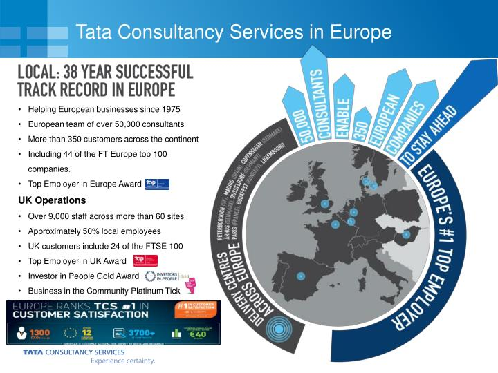 Tata consultancy services in europe