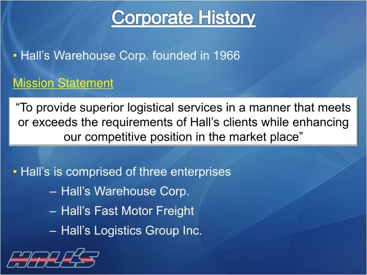 Corporate History