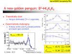 a new golden penguin b 0 k s k s k s