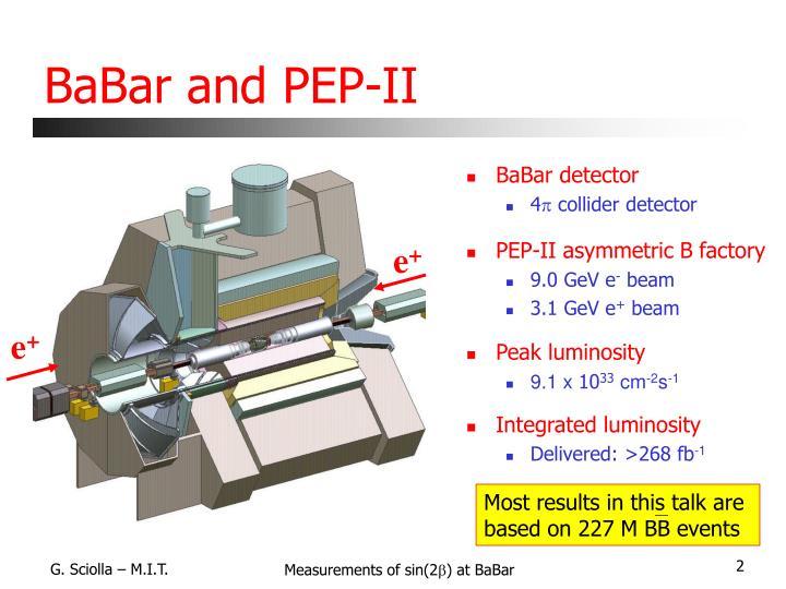 BaBar and PEP-II