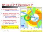 sm test in b 0 charmonium k 0