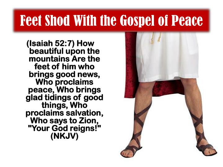 Feet Shod With the Gospel of Peace