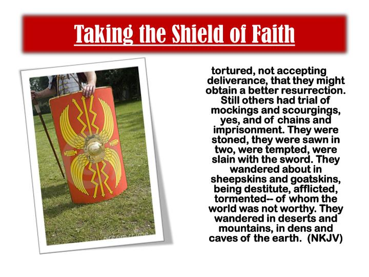 Taking the Shield of Faith