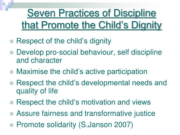 Seven Practices of Discipline