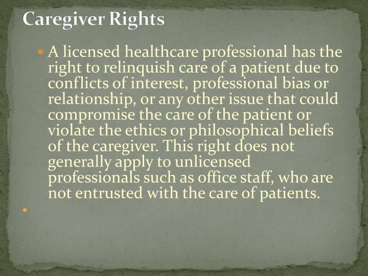Caregiver Rights