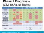 phase 1 progress gm 10 acute trusts