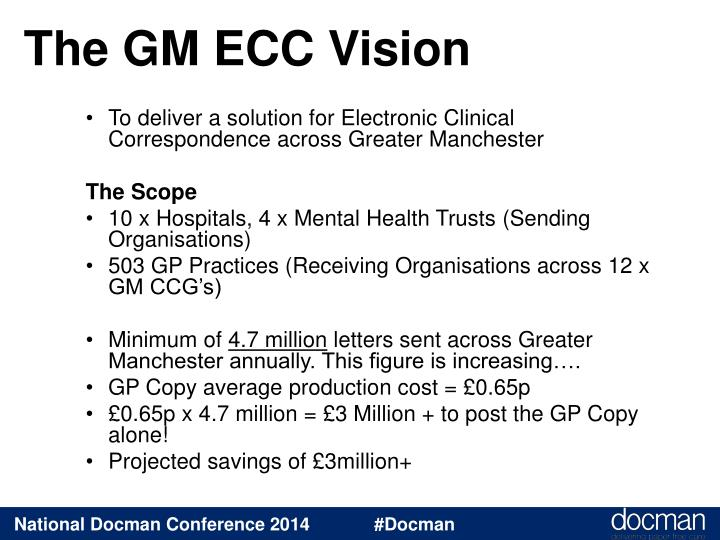 The gm ecc vision