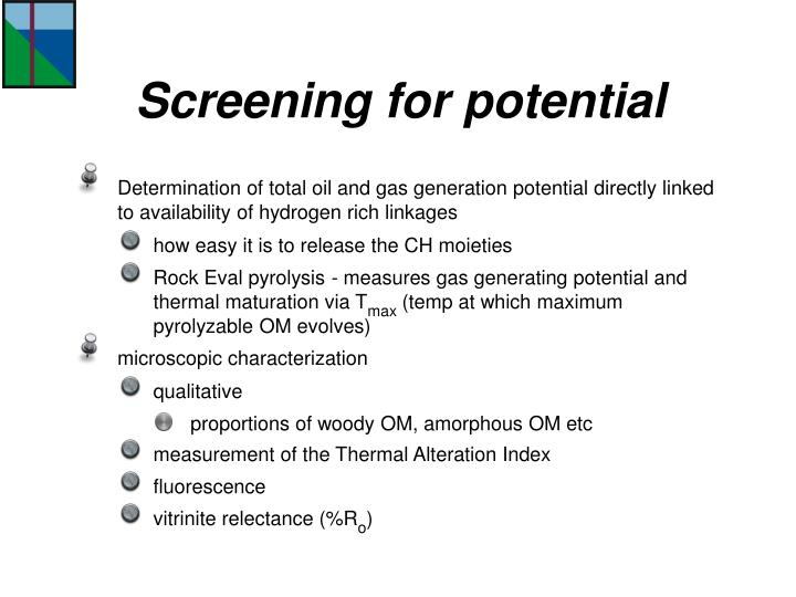 Screening for potential