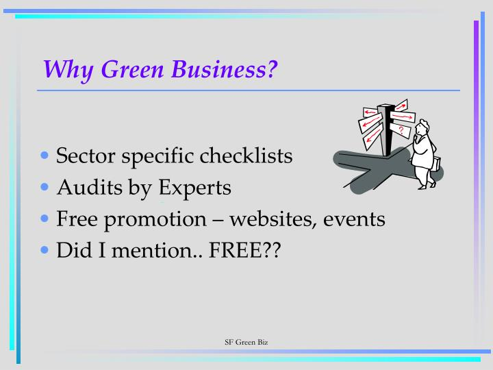 Why Green Business?